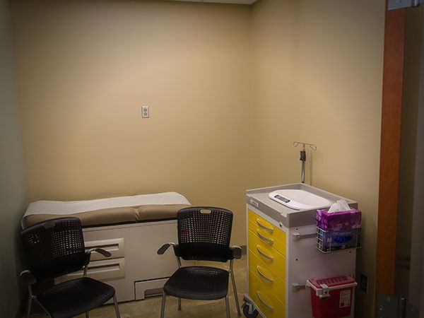Comfortable and private exam room
